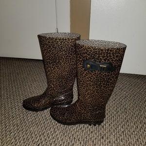 Shoes - Leopard rain boots